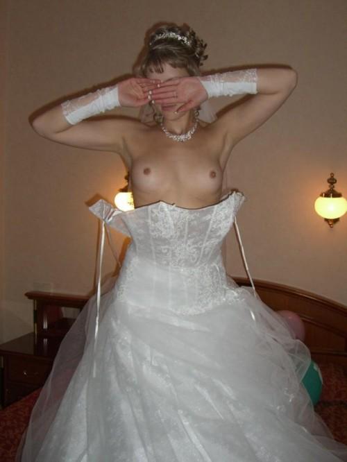 Les seins de la mariée